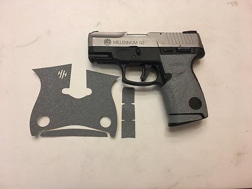 Taurus G2 Millennium 9/40 Gray Textured Rubber Gun Grip Enhancement Gun Part Kit