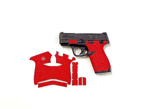 Smith and Wesson Shield 9/40 Red Sandpaper Gun Grip Enhancement Kit