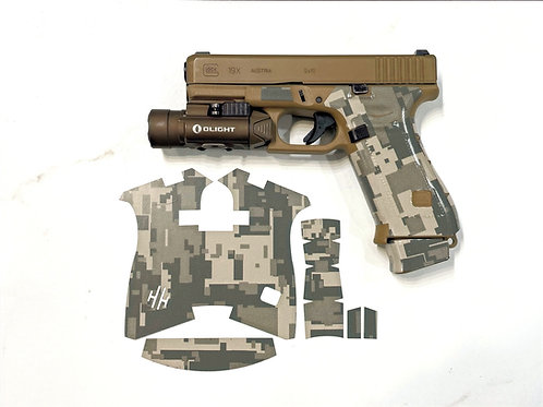 Army Style Digital Camouflage Vinyl Gun Grip Kit