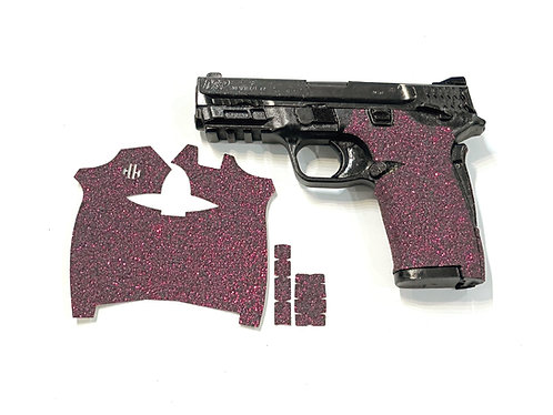 Smith and Wesson Shield ez Pink Glitter Sandpaper Gun Grip Enhancement