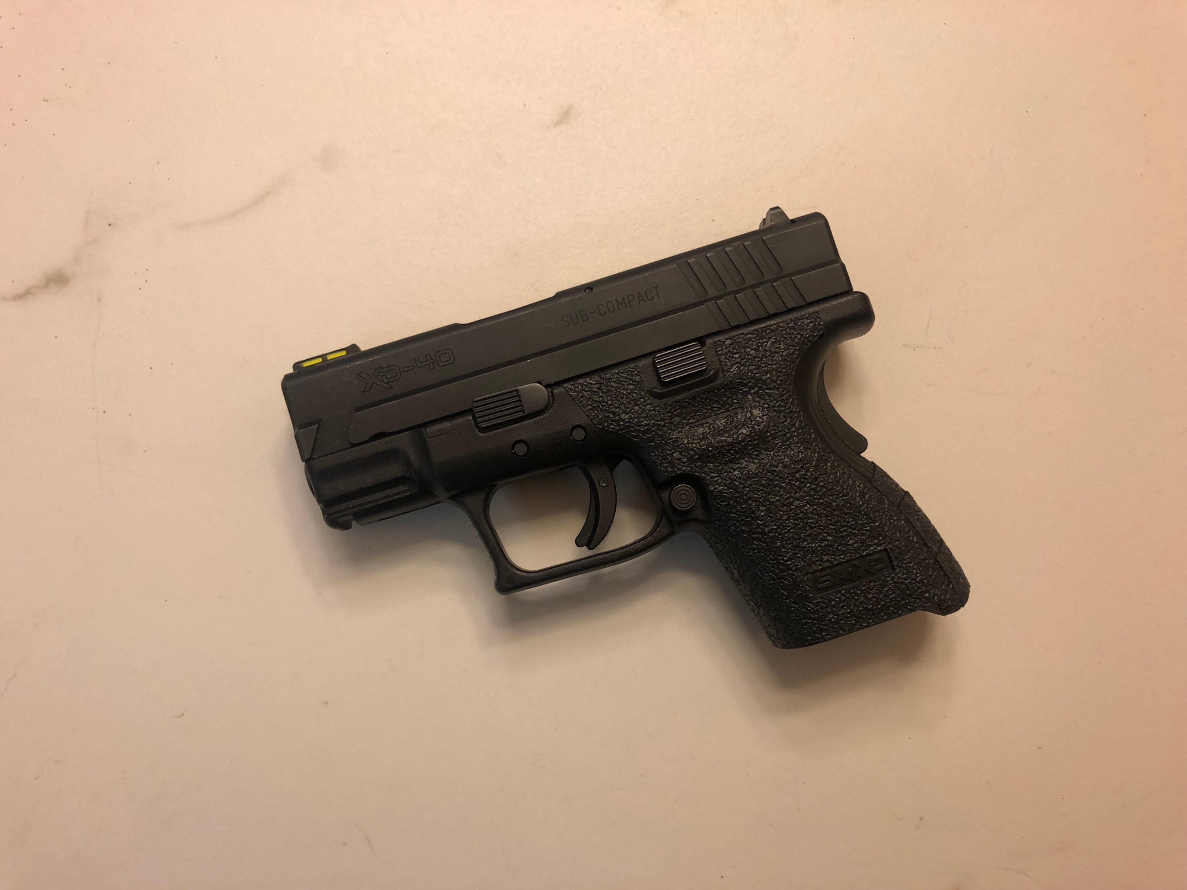 Springfield XD Sub Compact 9/40 Textured Rubber Gun Grip Enhancement Kit