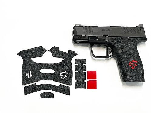 Handleitgrips Textured Rubber Gun Grip  for Springfield Hellcat with Red Insert