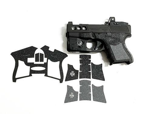 Glock 26/27 Hybrid Textured Rubber / Sandpaper  Gun Grip Enhancement  Kit