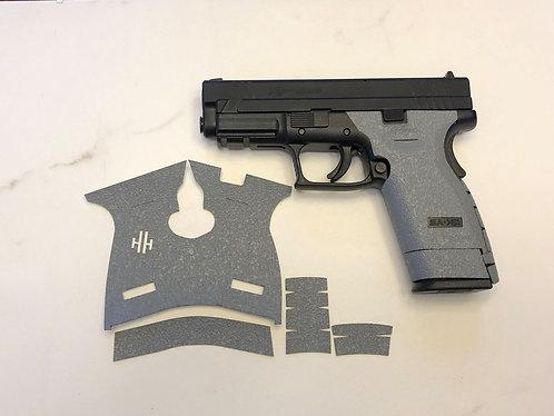 Springfield XD Sub Compact 45 Gray Textured Rubber Gun Grip Enhancement Kit