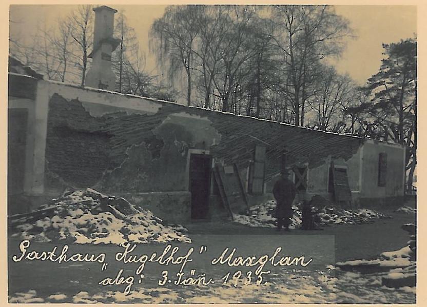 Brand Gasthaus Kuglhof Jänner 1935