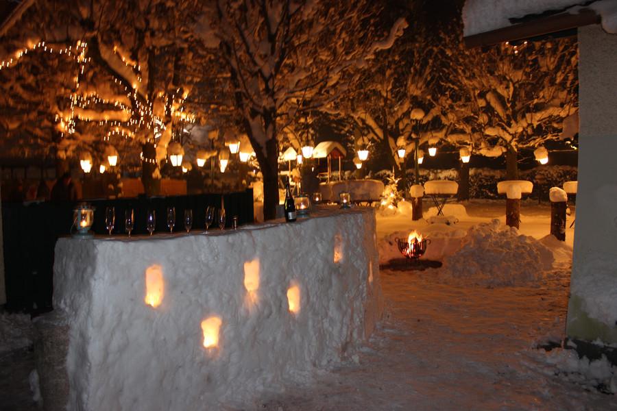 Winter im Gastgarten...