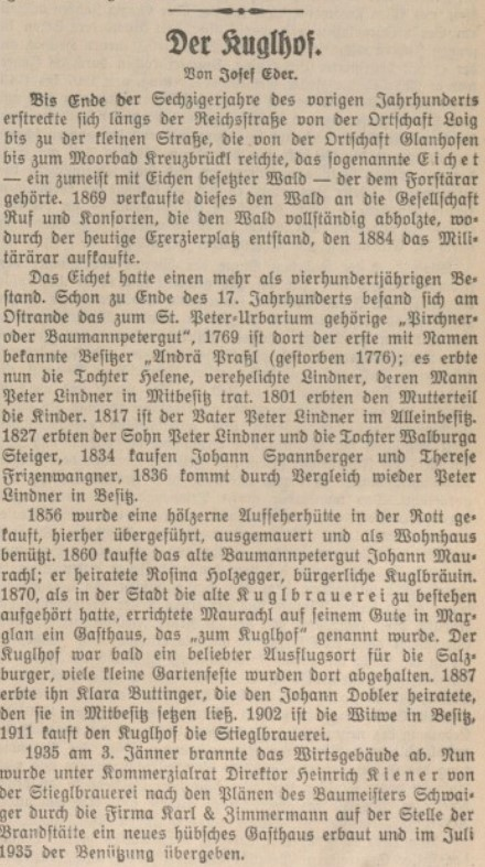 Salzburger Volkszeitung, 27. Juli 1935