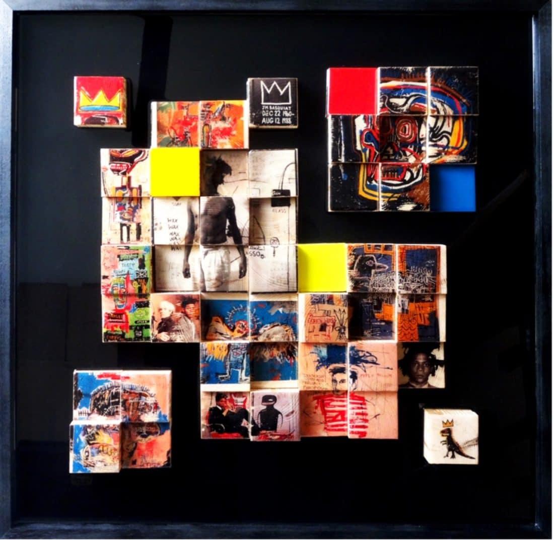 Basquiat by Cathie Berthon 80 x 80 cm