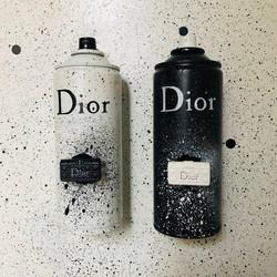 Dior spray cann on canvas