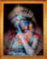 Josephine.Saintes apparitions - O GRINGO - Digital art - photo d'art - Vitraux - bijoux luxe - LVMH - Queen - Oeuvre d'art - Resine -Calçada cem
