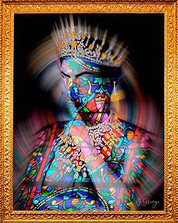 Josephine.Saintes apparitions - O GRINGO - Digital art - photo d'art - Vitraux - bijoux luxe - LVMH - Queen - Oeuvre d'art - Resine -Calçada cem
