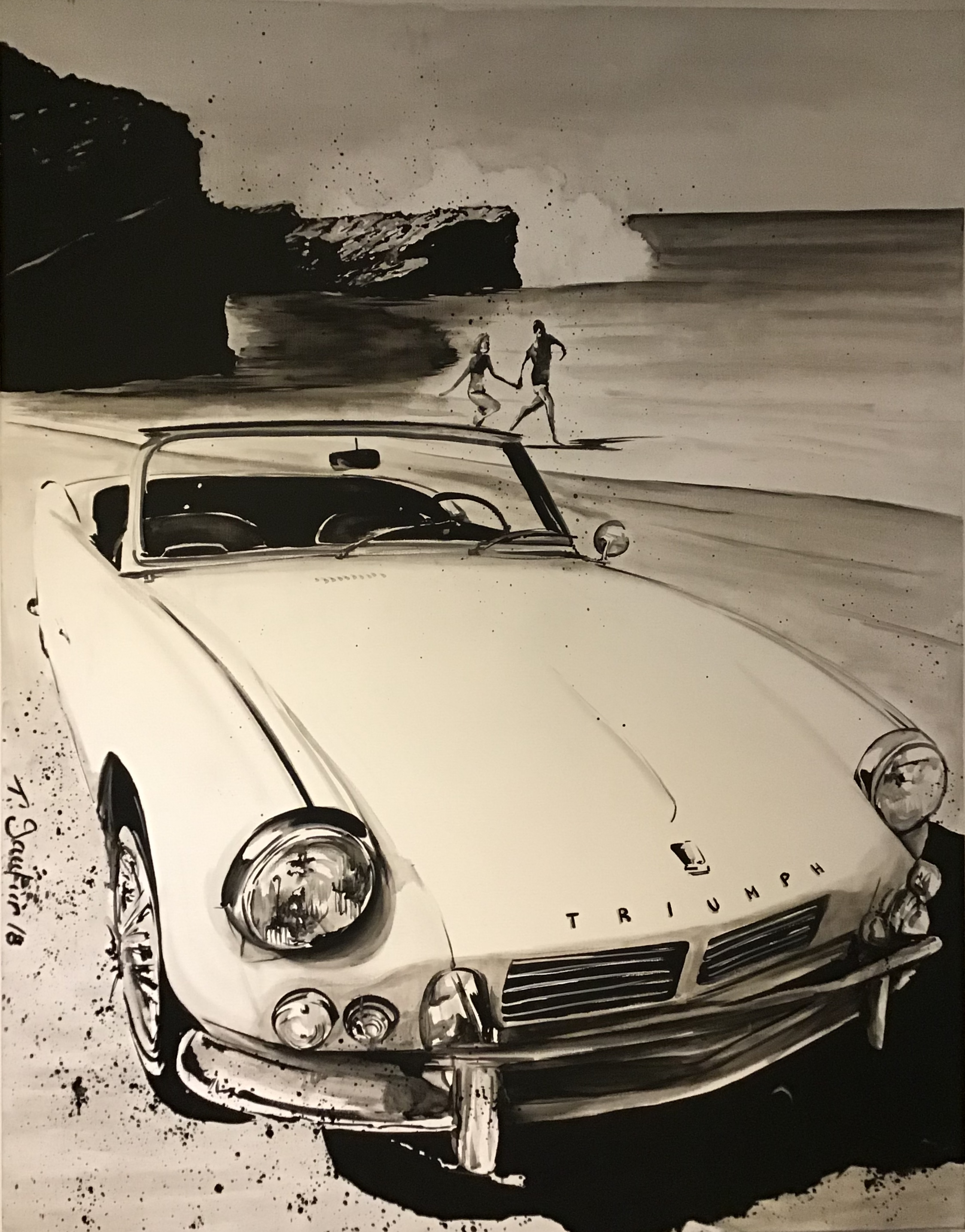 Triumph on the beach