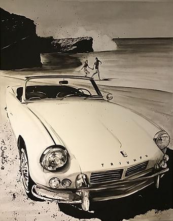T.gautier .Triumph on the beach