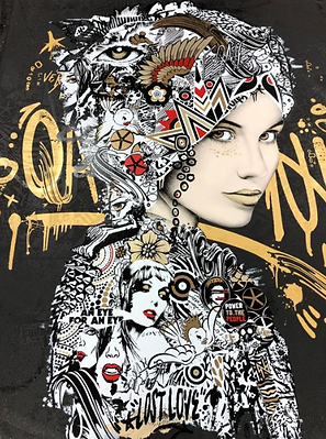 "Prefab77 - "" I yong maden "" Print - eddition - preffab77 artistes - streetart - peaceand lve- revolution - disco - obres de arte- lisbon art galery- calçada cem"