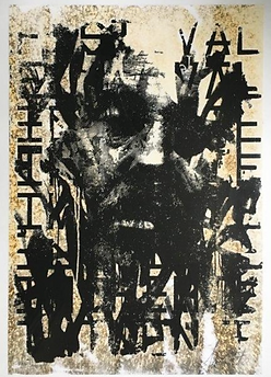 Vhils - Looming - Print de vhils - Vhils artiste street art - Art gallery lisbon - print serie vhils - expo art lisbon - Calçada cem -
