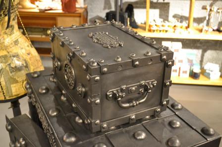 petit cofre antigo - decoração - small old safe box