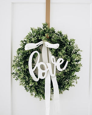 DIY Wreath and Wooden Love Sign.jpg