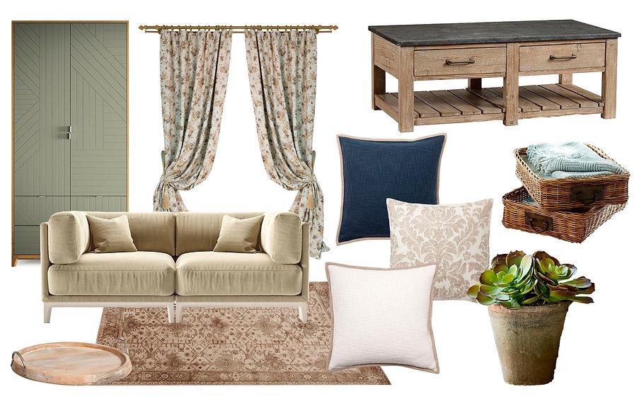 Interior collage. Mood board interior of