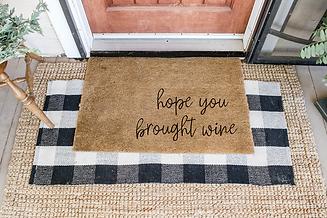 Hope You Brought Wine Doormat.png