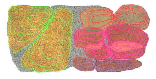 "Infinity Rug / 84"" x 48"" / hand tufted rug"