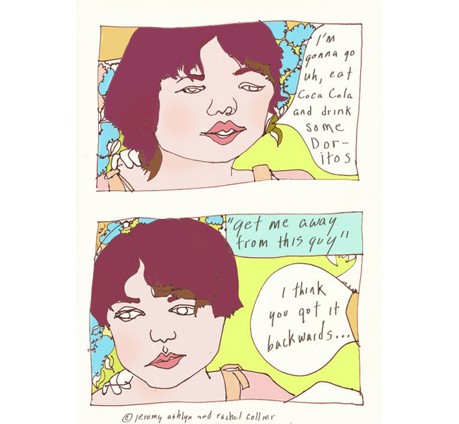 Comic made by Rachel Collier and Jeremy Aslyn / Ponytails Collective