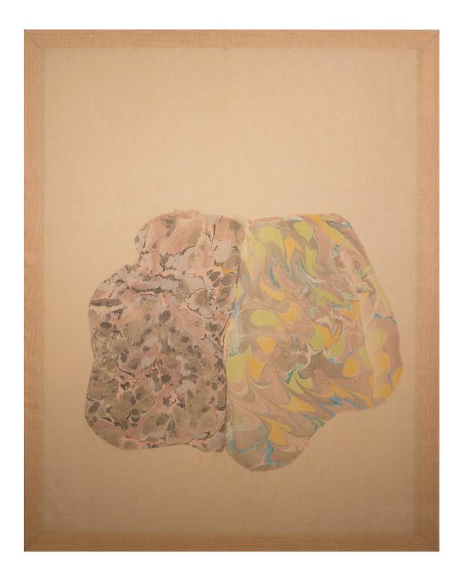 Thinker / 36″ x 48″ / 2017 // marbled monoprint on linen
