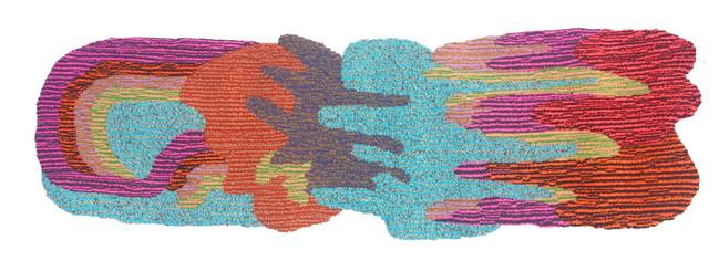 "Rave Rug / 55"" x 28"" / hand tufted rug"