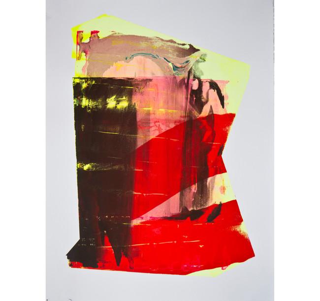 "Untitled (MN) / 22"" x 30"" / 2016 // screenprinted monotype"