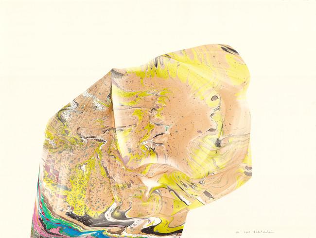 Rock / 30″ X 22″ / 2016 // marbled monoprint on paper