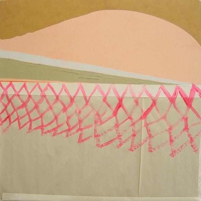 """Terraforming Venus / 24"""" x 24"""" / Paint on paper on wood"""