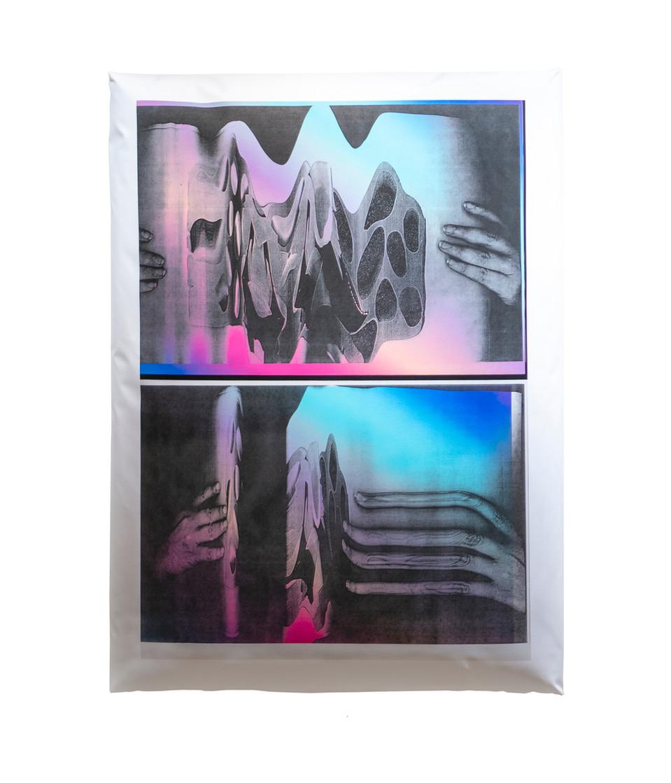 "Xerox Pillow / 36"" x 48"" / 2018 / digital print on canvas stuffed with polyfill"