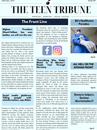 ISSUE 40   18th July 2021