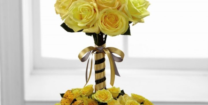 The FTD® Sun Blushed™ Rose Bouquet