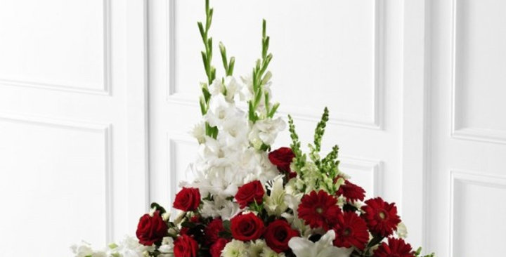 The FTD® Crimson & White™ Arrangement