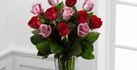 B23-4386 The FTD® Red and Lavender Rose Bouquet