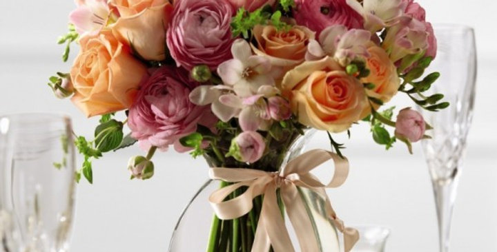 The FTD® Peach Silk™ Arrangement