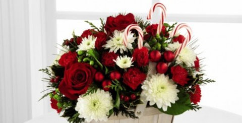 B14-4426 The FTD® Candy Cane Lane® Bouquet