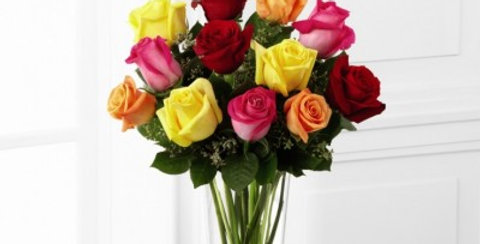 E4-4809 The FTD® Bright Spark™ Rose Bouquet