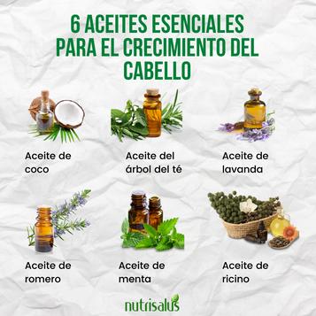 6 aceites esenciales para el crecimiento del cabello