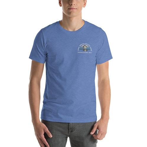 Brens Bucks Front and Back Print T-Shirt HEATHER TRUE ROYAL