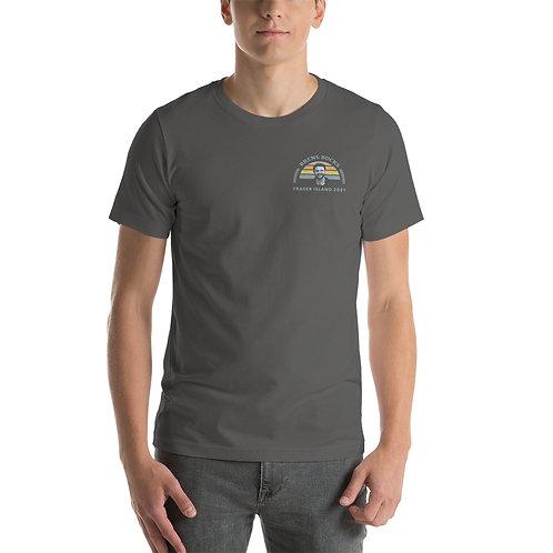 Brens Bucks Front and Back Print T-Shirt ASPHALT