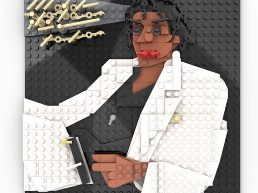 Leraar maakt iconische muziekalbums na met lego