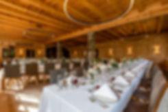 Glaserhof Gnadenwald, Hochzeit, Festsaal