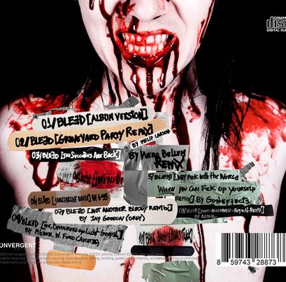JOHNNY CRAVEN  - BLEED ALBUM BOOKLET BACK CASE