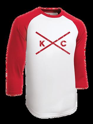 KC Red Baseball Tee
