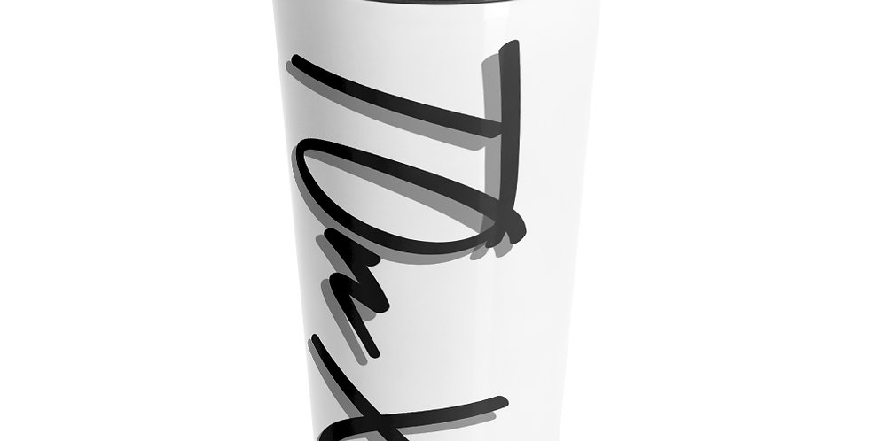 TOnX Stainless Steel Travel Mug: White
