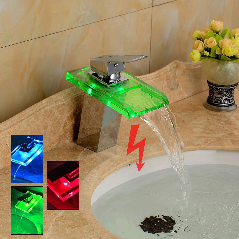 LED-Cascata-Rubinetto-Miscelatore-per-Bagno-Bidet-Lavabo 90€
