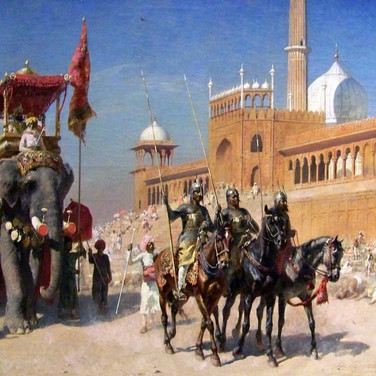 The Great Mogul and His Court Returning from the Great Mosque at Delhi