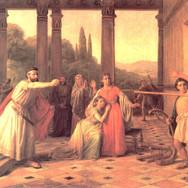 Saul Throwing His Spear at David