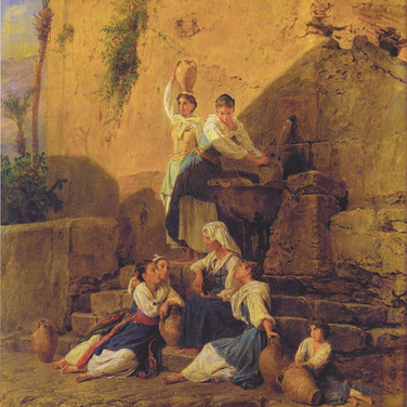 At the Fountain of Taormina